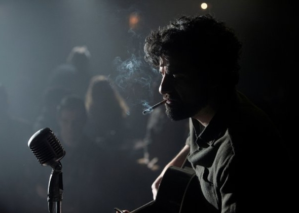 Caption: Oscar Isaac in Coen brothers' new film, 'Inside Llewyn Davis'