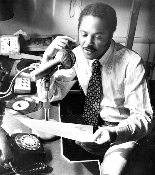 Caption: Legenday Philadelphia disc jockey Georgie Woods, Credit: Temple Urban Archives