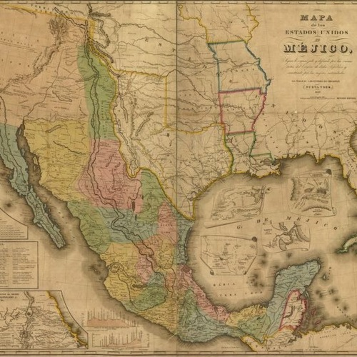 PRX Piece Border Crossings A History Of USMexico Relations - Us map with mexico borders