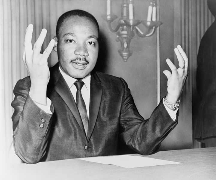 Caption: Rev. Martin Luther King Jr. , Credit: World Telegram & Sun photo by Dick DeMarsico