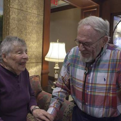 Caption: Hilda Baumol (left) and Monte Malach (right)., Credit: Photo by Emon Hassan, courtesy of Narratively.