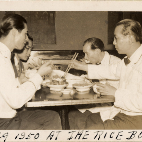 Caption: Photograph from The Rice Bowl, NYC, 1950. , Credit: Photo courtesy of Marcella Dear, Museum of Chinese in America (MOCA) Collection.