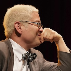Caption: Thomas Lauderdale of Pink Martini, Credit: Jennie Baker for Live Wire