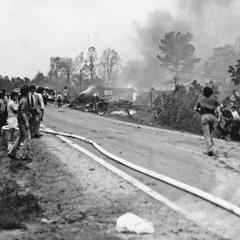 Caption: Southern Flight 242 crash site, 1977, Credit: Joe Parker