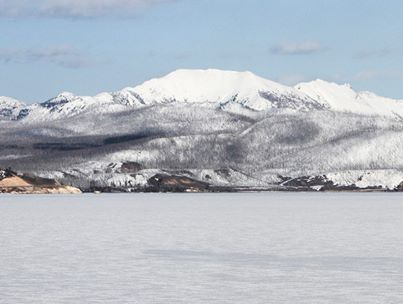 Caption: Yellowstone Lake in winter, Credit: National Park Service