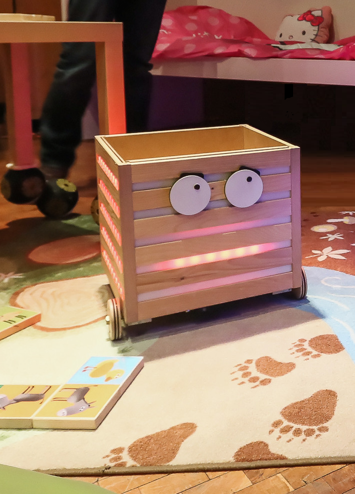 Caption: Robot toy box., Credit: Julia Fink