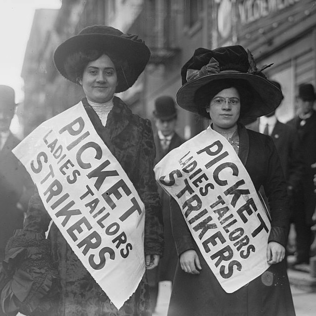Caption: Strikers from the Ladies Tailors Union, 1910, Credit: Library of Congress