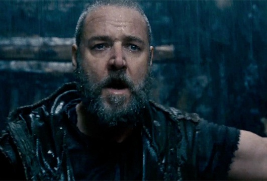 Caption: Russell Crowe in scene from Darren Aronofsky's 'Noah'