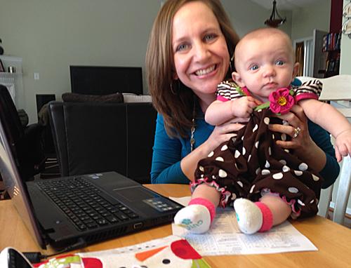 Caption: Teacher Julie Reeves and her daughter, Abby., Credit: Dave DeWitt