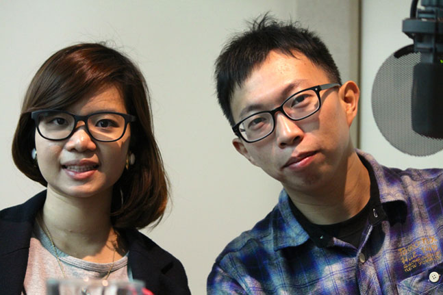 Caption: Huang Yu-fen & Wei Yang of the Sunflower Movement, Credit: Gusta Johnson, Carnegie Council
