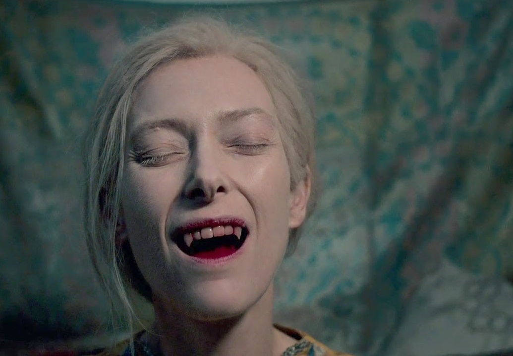 Caption: Tilda Swinton in Jim Jarmusch's 'Only Lovers Left Alive'