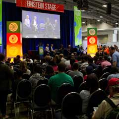 Caption: Planetary Radio Live at the 2014 USASEF, Credit: Loren Roberts
