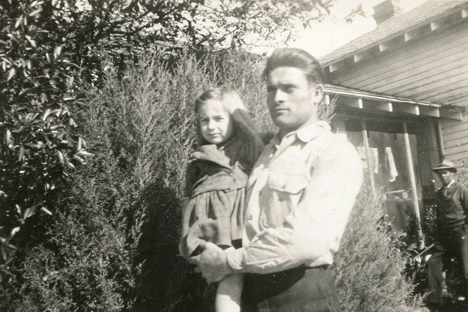 Caption: German POW Otto Schwingel and Linda Anderson on Anderson's farm near Florence, S.C., Credit: courtesy of Ingebourg Schwingel