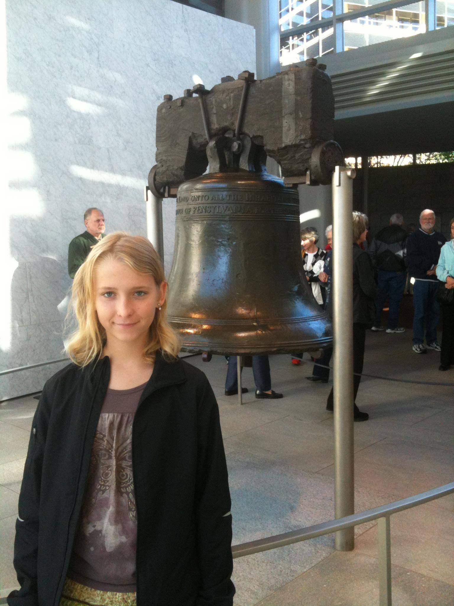 Caption: Hannah Visits the Liberty Bell , Credit: Hannah Providence