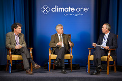 Caption: Larry Goulder, Tony Juniper, Greg Dalton, Credit: Sonya Abrams