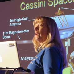 Caption: Cassini Mission Project Scientist Linda Spilker, Credit: Mat Kaplan