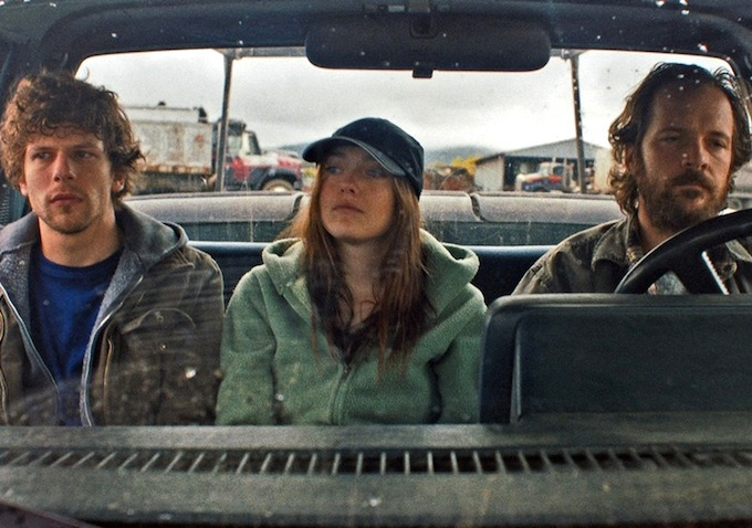 Caption: Jesse Eisenberg, Dakota Fanning, Peter Sarsgaard in 'Night Moves'