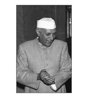 Caption: First prime minister of India and science visionary, Jawarhalal Nehru!