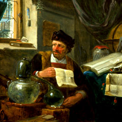 Caption: An Alchemist in his Studio, Thomas Wijck. , Credit: CHF Collections