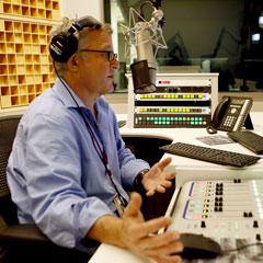 Caption: Joe Palca tracks a story at NPR, Credit: Photo courtesy of Joe Palca