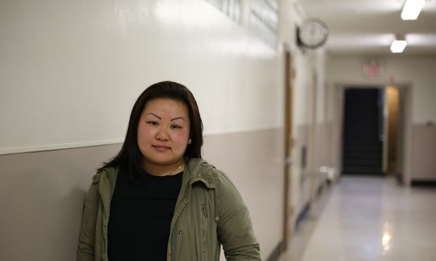 Caption: Paula Dinh, a student at West Brooklyn Community High School, Credit: Jennifer Hsu/WNYC