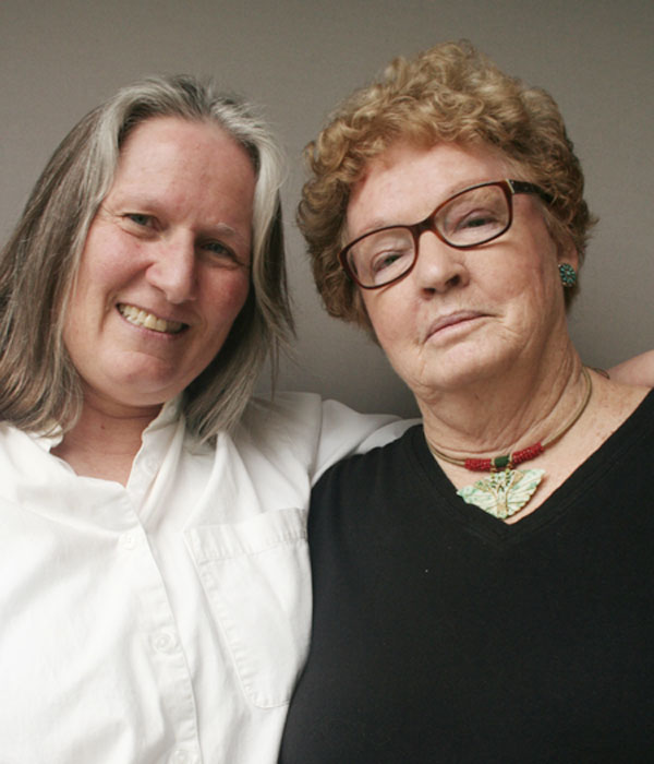 Caption: Clela Rorex (R) and her friend Sue Larson (L).