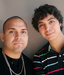 Caption: Roger Alvarez (L) and his former teacher Antero Garcia (R).