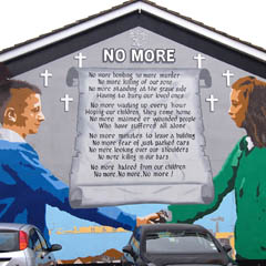 Caption: Peace Mural in Belfast, Credit: Mike Hally 2014