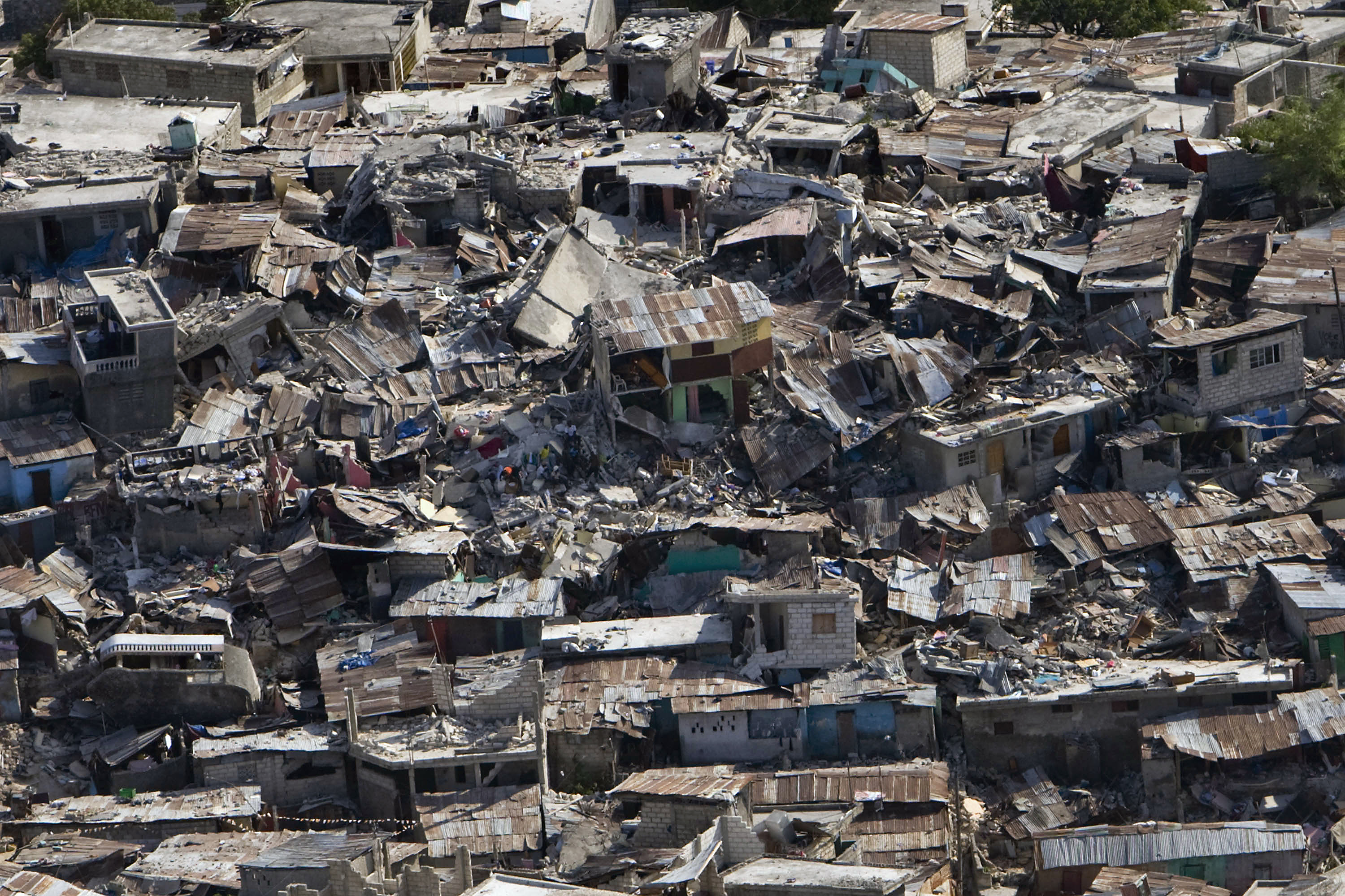 Caption: Haiti, 2010 earthquake damage
