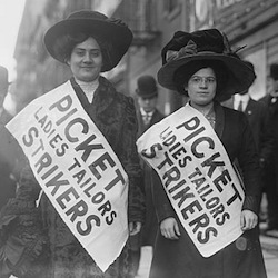 Caption: Strikers from the Ladies Tailors Union, 1910 , Credit: Library of Congress