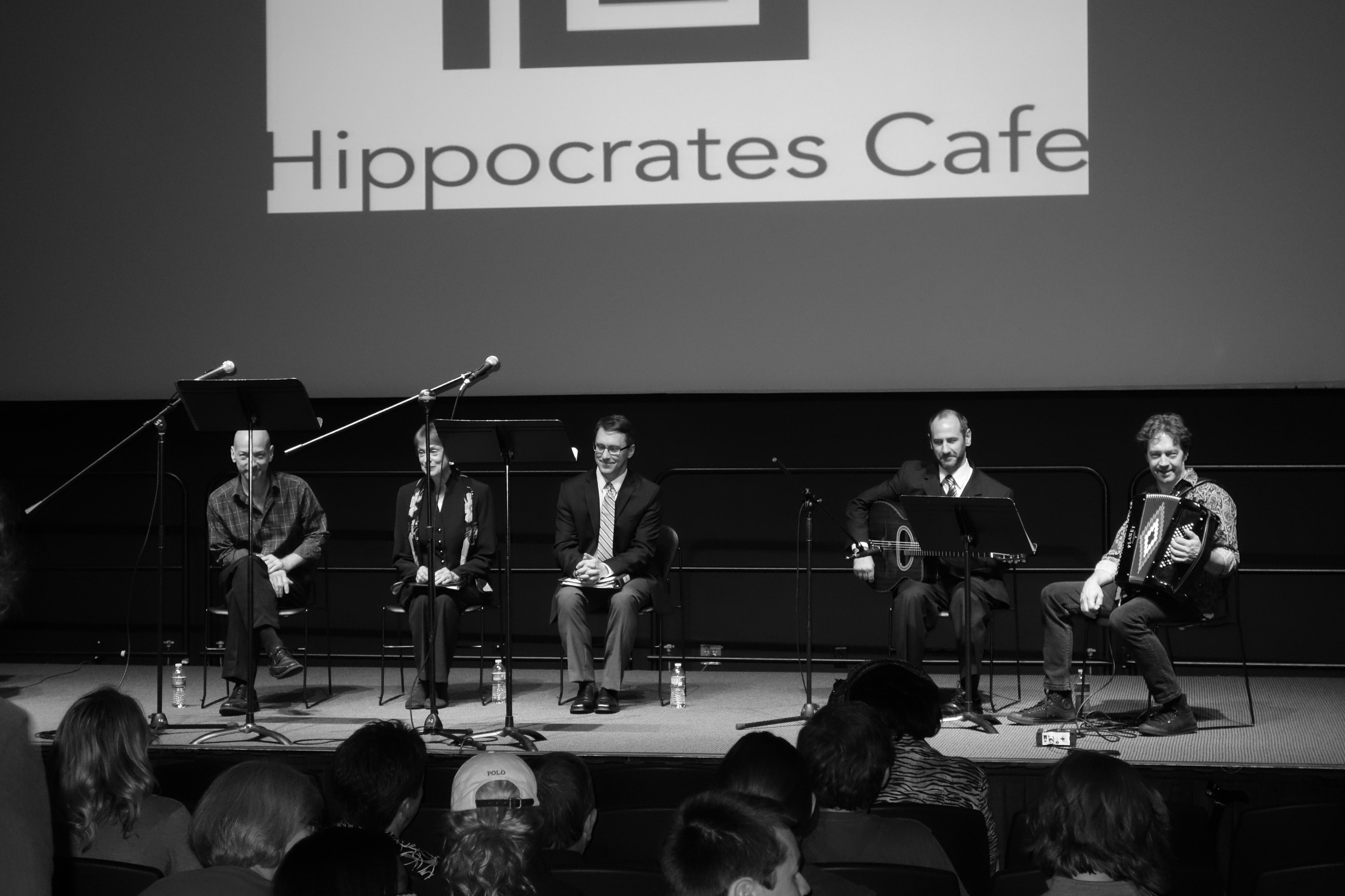 Caption: L to R: Matthew Sciple, Katherine Ferrand, Jon Hallberg, Robert Bell, and Dan Newton