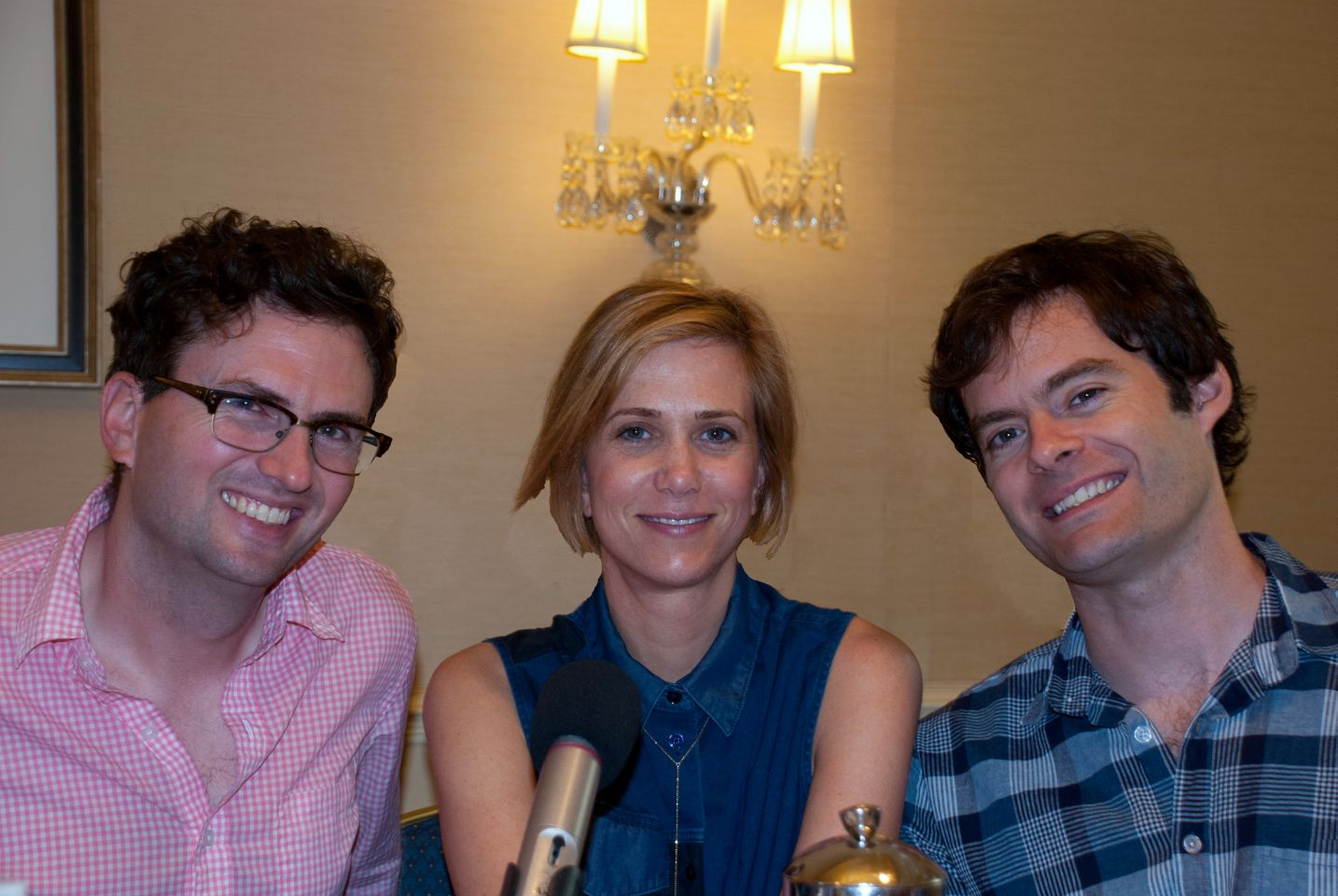 Caption: Craig Johnson, Kristen Wiig, Bill Hader, San Francisco, CA 5/1/14, Credit: Andrea Chase