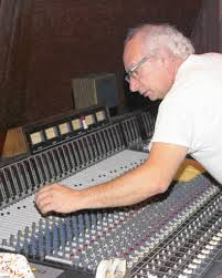 Caption: Cosimo Matassa at the mixing desk