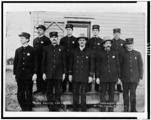 Caption: The police in Gary, Ind., 1908, Credit: Library of Congress