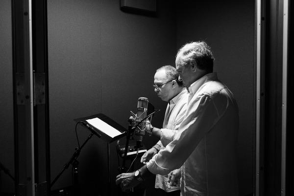 Caption: Marc Osborne & Nick Zoullas recording  their new album, Credit: Trevor Snapp