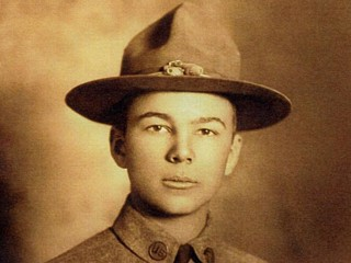 Caption: Frank Buckles in 1918, last living U.S. veteran of WWI.