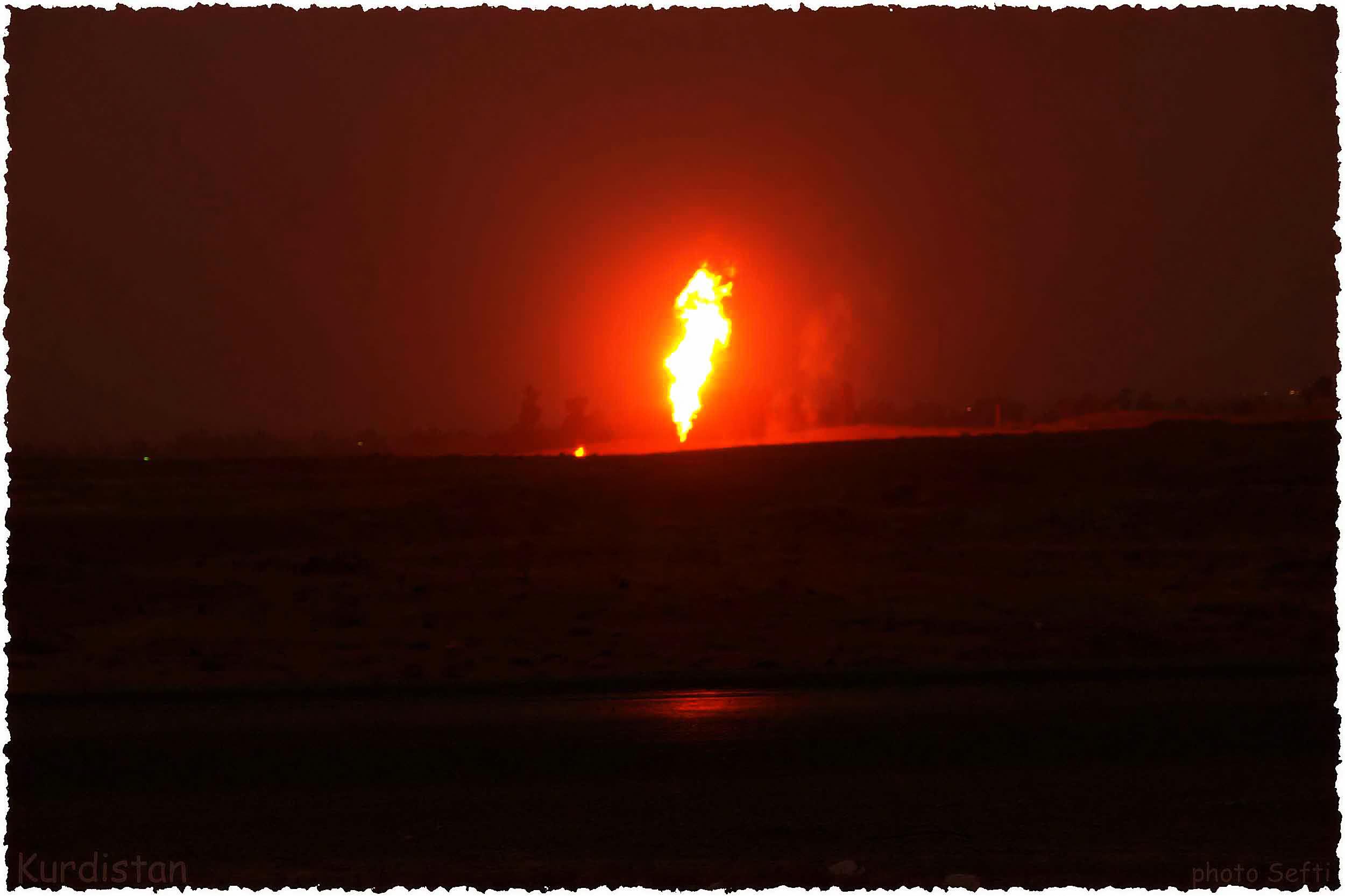 Caption: Karkuk kurdistan Oil, Credit: Jan Sefti