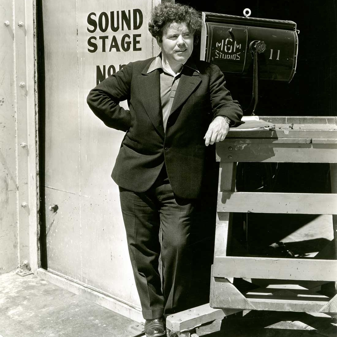 Caption: Jim Tully at an MGM soundstage, Credit: MGM
