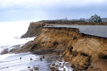 Caption: Erosion at Nauset Light, Cape Cod National Seashore , Credit: Cape Cod Times