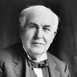 Caption: Thomas Edison