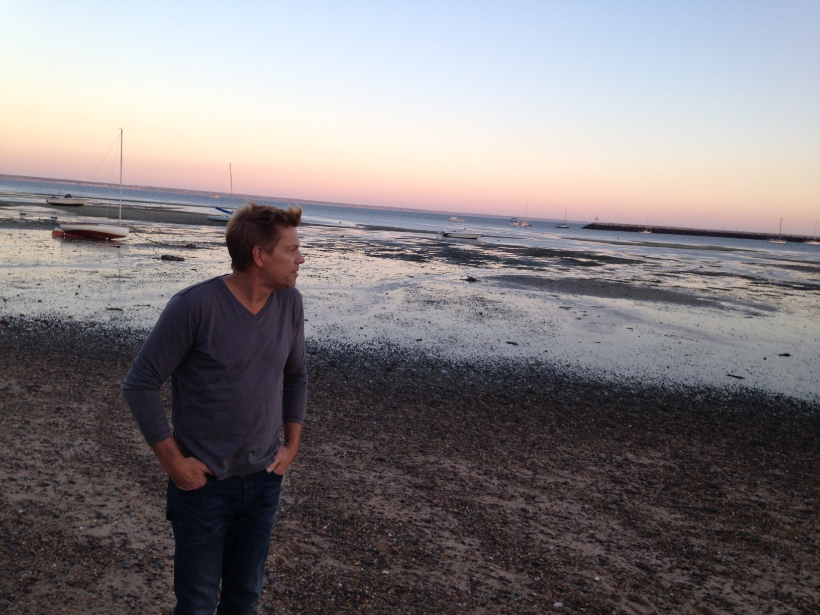 Caption: Peter Donnelly on the beach in Provincetown, Credit: Annabel Lang