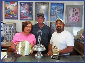 Caption: Tony & the Crew of Acme Silver Plating.
