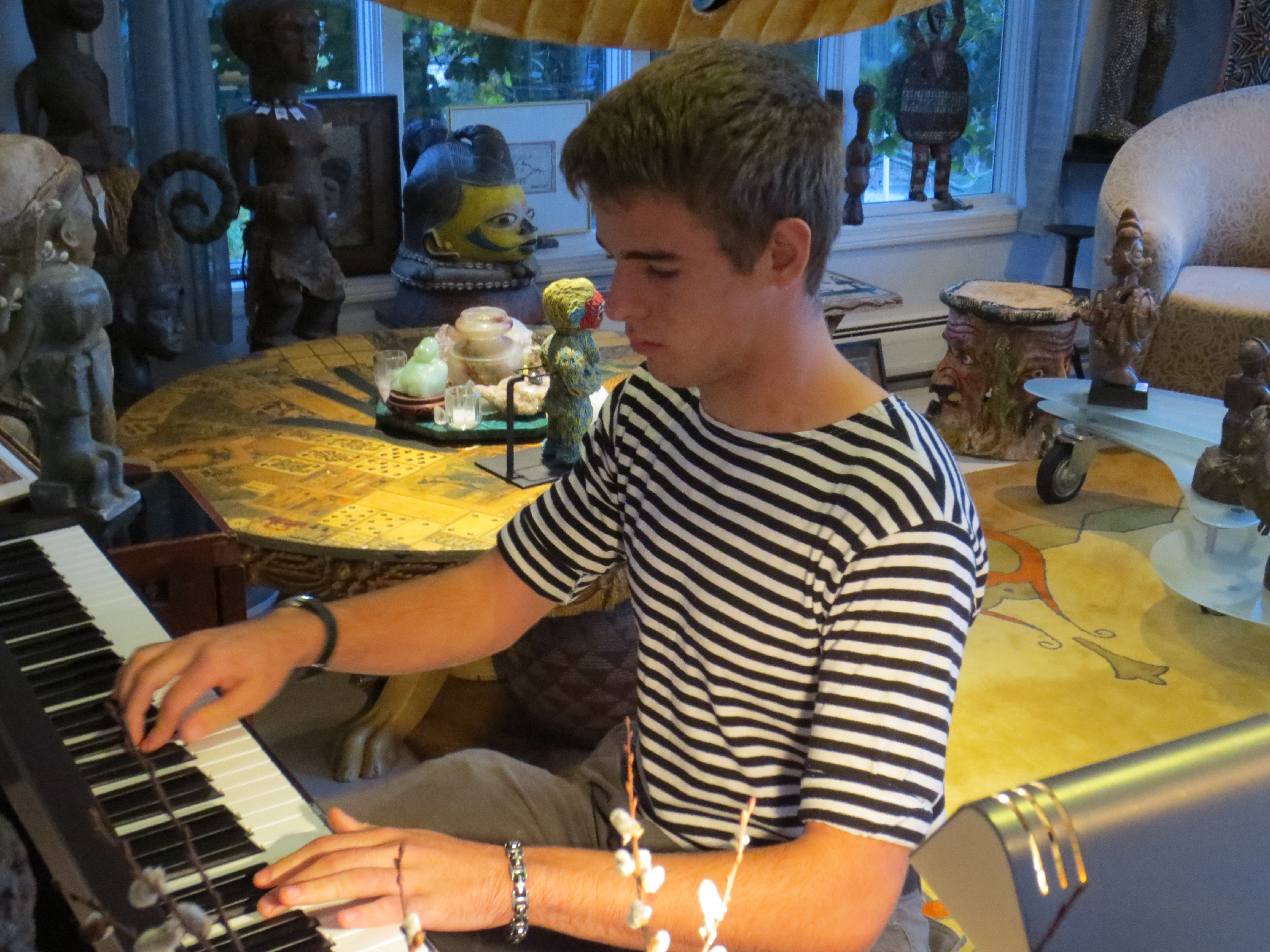 Caption: Bryson Alexander playing one of his compositions, Credit: Mary Quintas