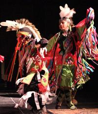 Caption: Leech Lake Dancers, Credit: Grant Frashier
