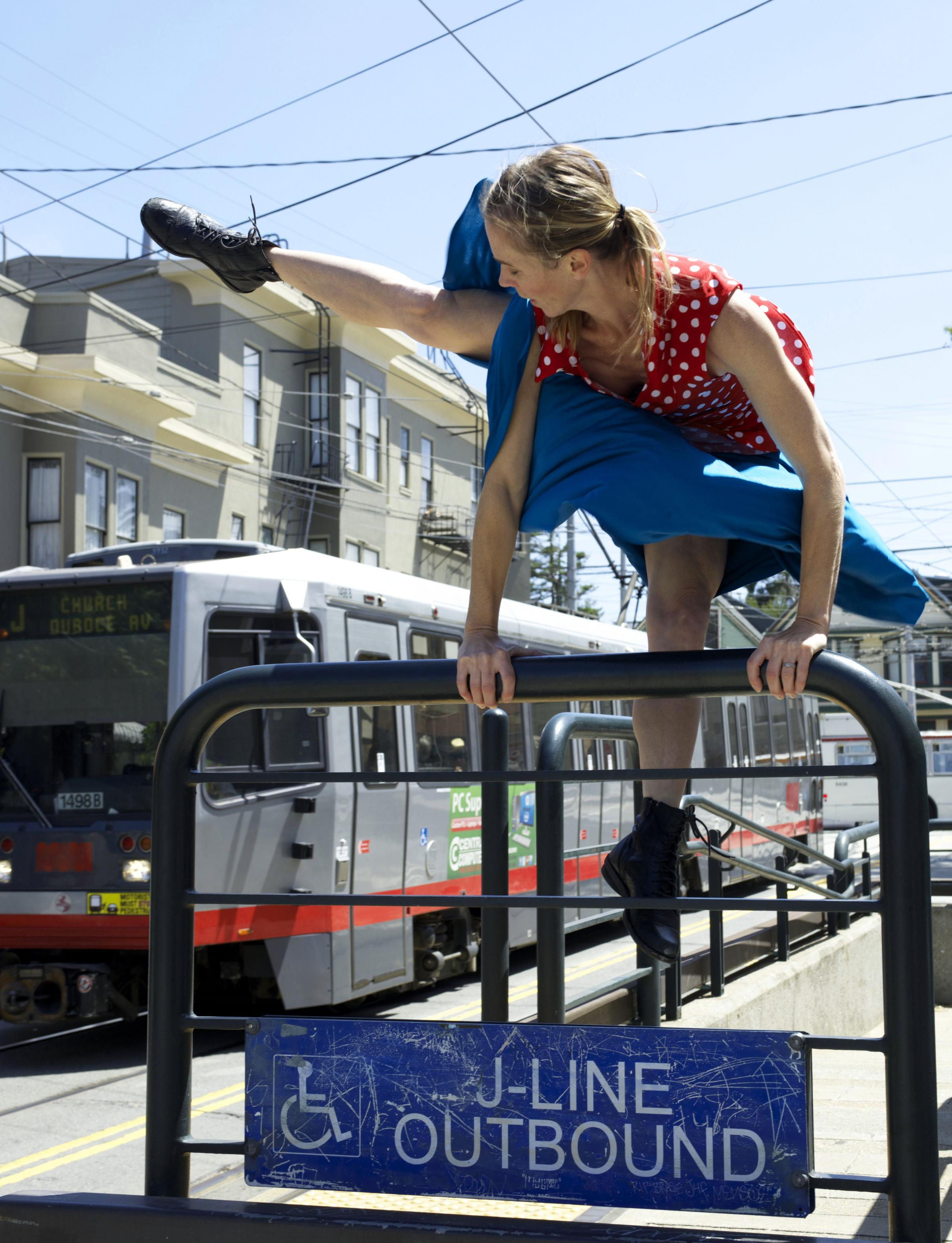 Caption: Jennifer Perfilio, SF Trolley Dances, Credit: Andy Mogg