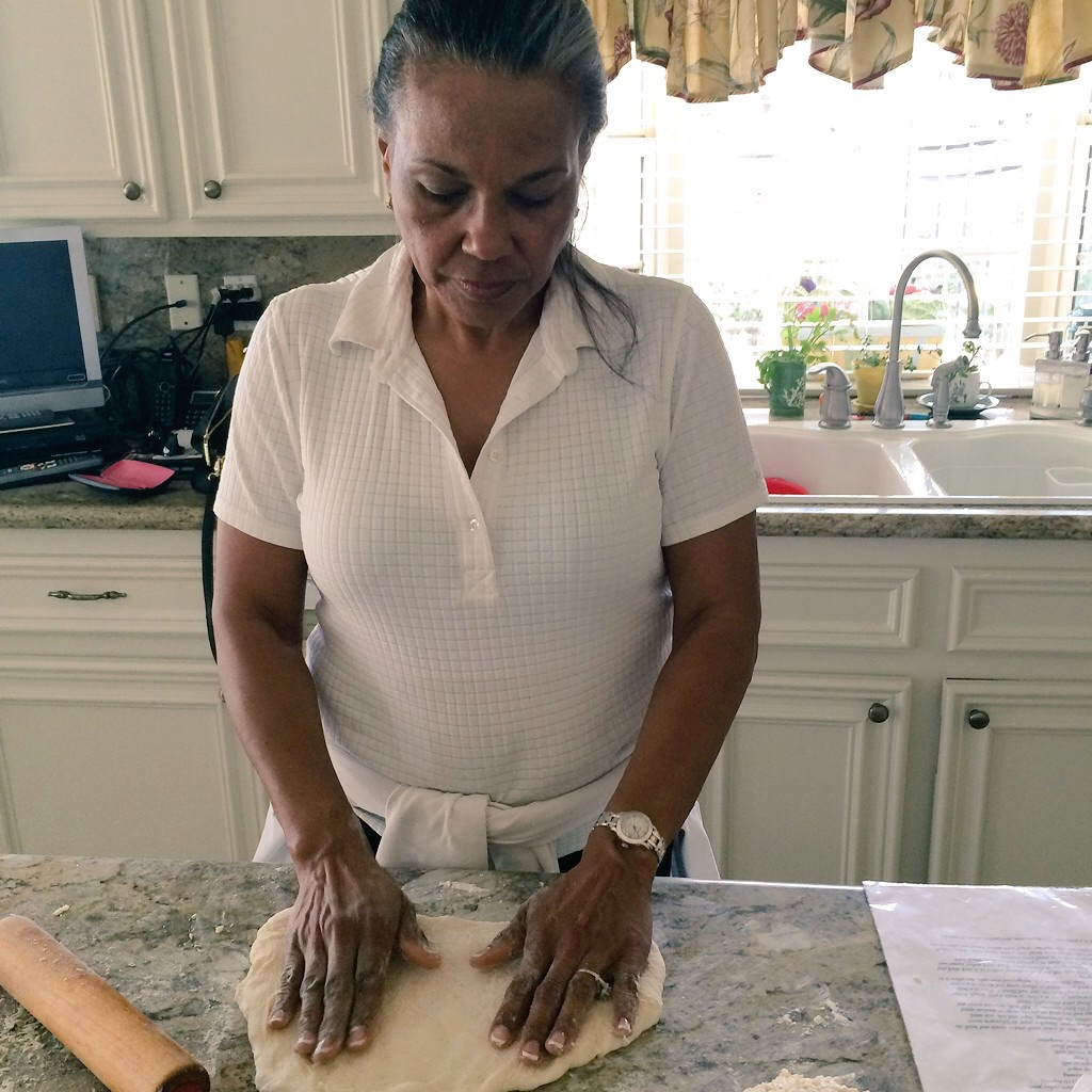 Caption: Toni Tipton Martin making hot rolls.