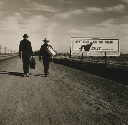 Caption: Toward Los Angeles, Calif., by Dorothea Lange, 1937., Credit: Library of Congress