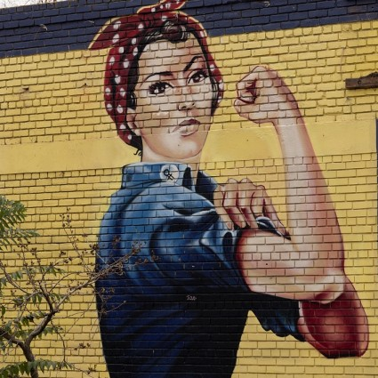Caption: Mural of Rosie the Riveter, Sacramento, Calif., Credit: Library of Congress