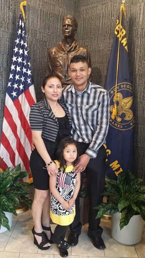 Caption: Erick Moya and his family., Credit: COURTESY ERICK MOYA