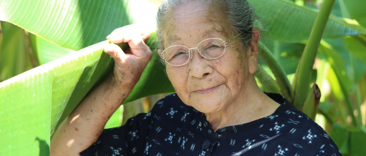 Caption: A resident of Okinawa, Japan, Credit: Landscapes of Longevity